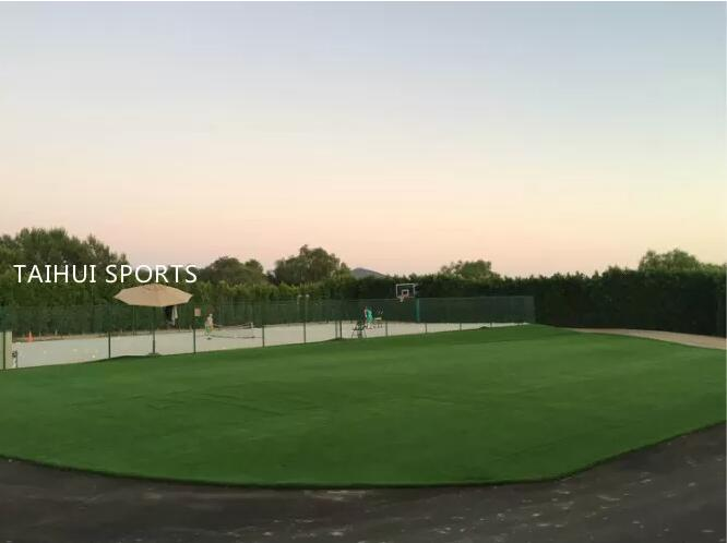 Double-Sided Grooved Playground Turf Padding Artificial Turf System Underlay Safe Level Of Food With 30 Density