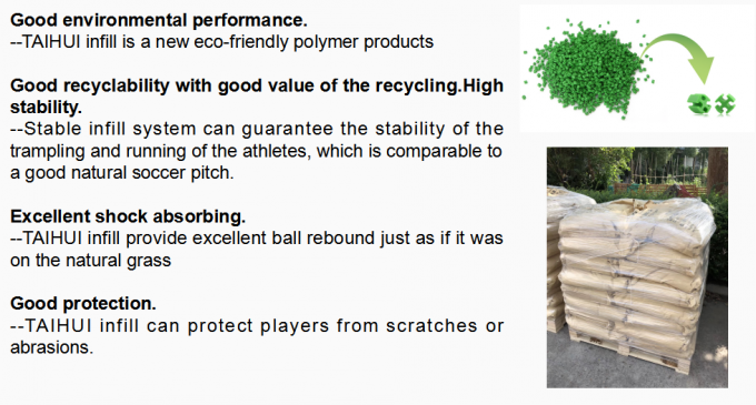 Low Bulk Density Recyclable SEBS Green Synthetic Turf Infill High Grade Indoor&Outdoor Soccer Sports Field 2