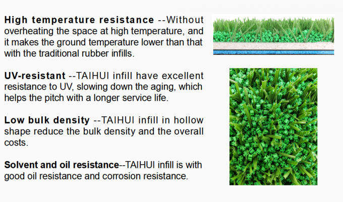SEBS Shock Absorbing Rubber Infill Cooling granules Recyclable Turf Infill For Artificial Grass Less Filling Acid 3